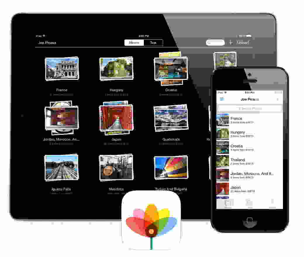 How to manage photos as album in iPhone, iPad on iOS 7 and iOS 8