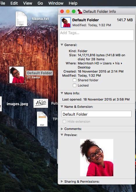 Undo or remove picture icon from folder