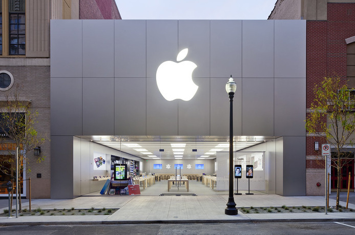 Address and telephone number of Apple Store, River Park Square