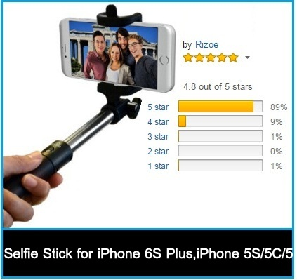 best selfie sticks for iphone 6s 6s plus android. Black Bedroom Furniture Sets. Home Design Ideas