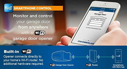Android and iPhone controlled Wi-Fi garage door opener
