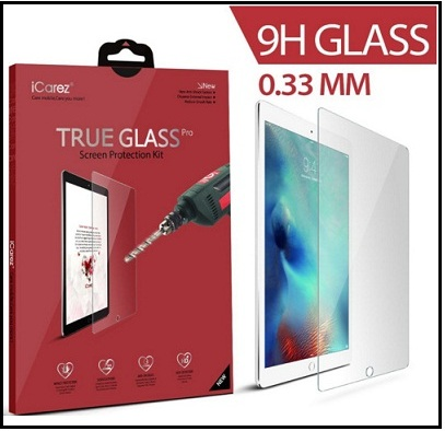 awesome iCarez Apple iPad Pro tempered glass protector