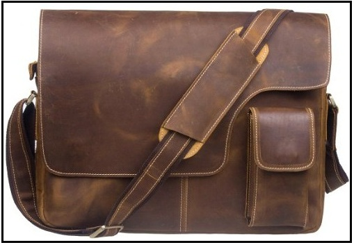 Good looking S-Zone Vintage crazy horse leather bag 12.9-inch